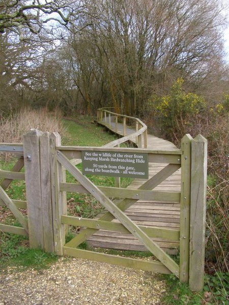 File:Boardwalk to Keeping Marsh birdwatching hide, Beaulieu River - geograph.org.uk - 348451.jpg