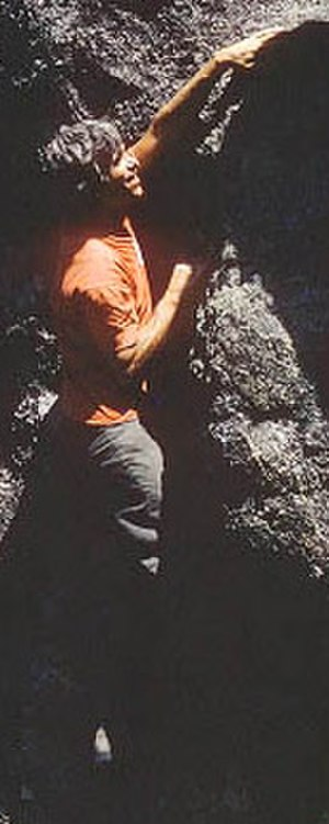 Bob Kamps - Bob Kamps bouldering in the Needles of the Black Hills in the 1970s.