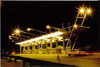 Highway 44 (Israel) - Bus stops on Highway 44 (Israel) near Holon Interchange. Designed by Moti Bodek