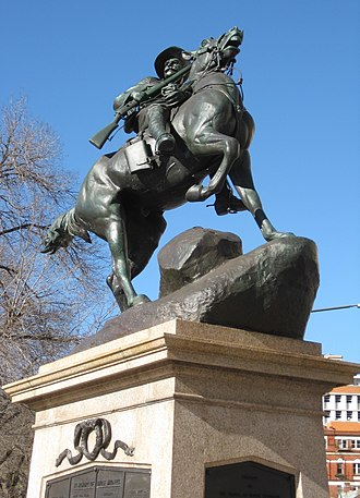South African War Memorial (South Australia) - View of the statue after the 2007 restoration was complete.