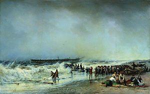 Russian frigate Alexander Nevsky - Second painting by Bogolyubov, 1868