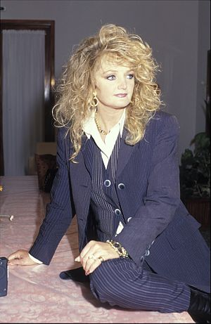 Bonnie Tyler - Tyler in Moscow, Russia, 6 May 1997.