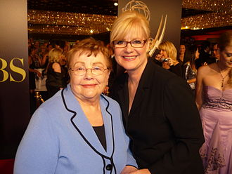 Bonnie Hunt - Hunt with her mother Alice at the 2010 Daytime Emmy Awards