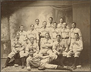 1901 Boston Americans season - Image: Boston Americans team picture