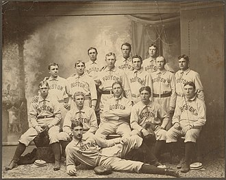History of the Boston Red Sox - the first Boston American League team taken in 1901.
