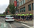 Boston Police and police from nearby districts, on bicycle patrol, getting final direction on the day's protests.jpg