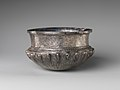 Bowl with acorn bosses at shoulder, lotus pattern beneath, and rosette on bottom, and with inscribed weight MET DP238940.jpg