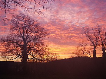 English: Boxing Day sunrise at Southbury