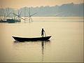 Boy on Boat, Ganges & Jalangi River conjunction, Mayapur.jpg