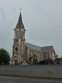 Brêmes (Pas-de-Calais) église (01).JPG