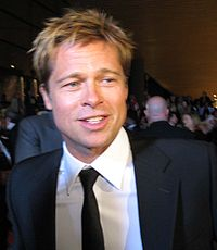 Brad Pitt with eyes obscured