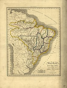 Dimension of Brazil in 1821 with Kingdom of Portugal Brazil and Algarves[2]