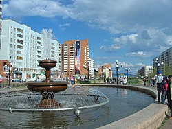 Fountain on Sovetskaya Street in Bratsk