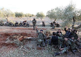 Northern Aleppo offensive (February 2016) - Syrian soldiers after breaking the siege of Nubl and Zahra