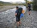 Brett and Erik hiking back up the Sushana (6941858933).jpg