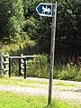 Bridleway sign, Green Lane West 1.JPG