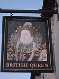 British Queen, Pub Sign, Locksbottom - geograph.org.uk - 2180759.jpg