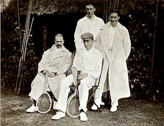 William le Maire de Warzée d'Hermalle - William le Maire de Warzée at left at the 1904 Davis Cup