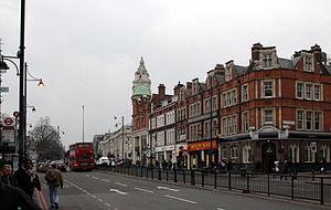 London to Brighton Way - Brixton Road, London, lies on the Roman road