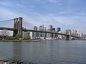 Brooklyn Bridge depuis Fulton Landing Park