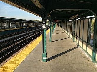 88th Street (IND Fulton Street Line) - Brooklyn-bound platform