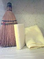 Broom sponge and dister