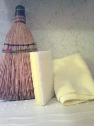 Housekeeping - Broom, sponge and duster