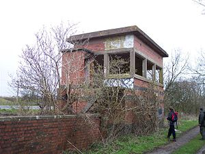 Broom Junction railway station - Remains of Broom West box