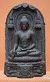 Buddha in Bhumisparsha Mudra Inscribed - Basalt - ca 10th Century CE - Pala Period - Bihar - ACCN 3750-A25147 - Indian Museum - Kolkata 2016-03-06 1550.JPG