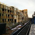 Building being constructed next to the tracks at Brommaplan.jpg