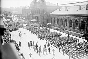 Rhine Province - French troops leaving Mainz (1930)