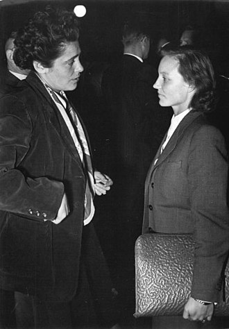 Margot Honecker - Attending the Volkskammer in 1951. During this period she was having an affair with Erich Honecker.