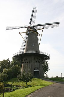 De Prins Van Oranje, Buren Dutch windmill