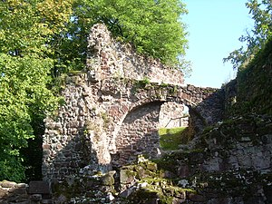 Hohnstein Castle - An arch, part of the Hohnstein ruins