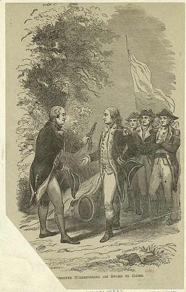 File:Burgoyne surrendering his sword to Gates. (3990850830).jpg
