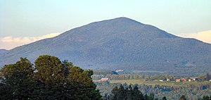 Burke Mountain (Vermont) - View of the west side of Burke from Pudding Hill in Lyndon.