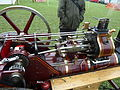 Burrell single crank compound, cylinders side, Abergavenny steam rally 2012.jpg