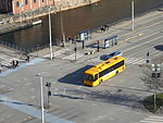 Buses seen from Christiansborg Palace 11.JPG