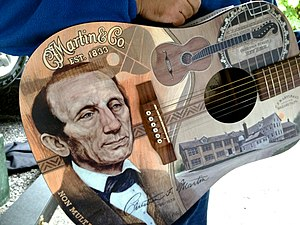 C. F. Martin & Company - Image: C. F. Martin Limited Edition 175th Anniversary DX (2008) painted guitar body