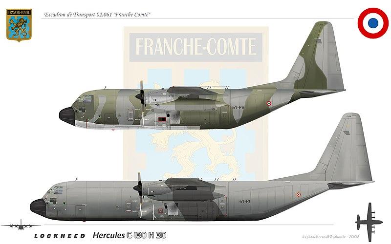 Caractéristiques et historiques du Hercules C130 800px-C130H30franchecomt%C3%A9