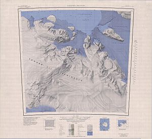 Map of the Edward VII Peninsula with the Richter Glacier (top left)
