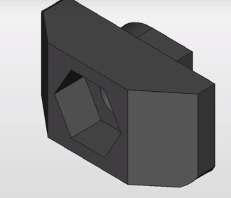 T-slot nut - Image: CAD model of a T Nut 3