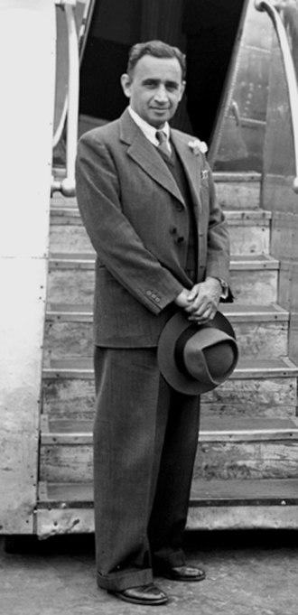 C. D. Deshmukh - Deshmukh at Palam airport in 1952