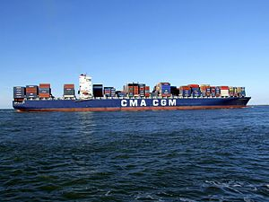 CMA CGM Parsifal p08 approaching Port of Rotterdam, Holland 01-Jan-2005.jpg