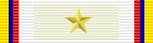 Order of Health Merit Jose Fernandez Madrid - Image: COL Gran Oficial Orden del Mérito Sanitario José Fernández Madrid cinta