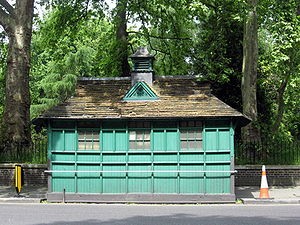 Kensington Road - Cabmen's Shelter in Kensington Road, close to the junction with Queen's Gate.