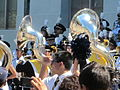 Cal Band at spirit rally before at UC Davis at Cal 2010-09-04 4.JPG