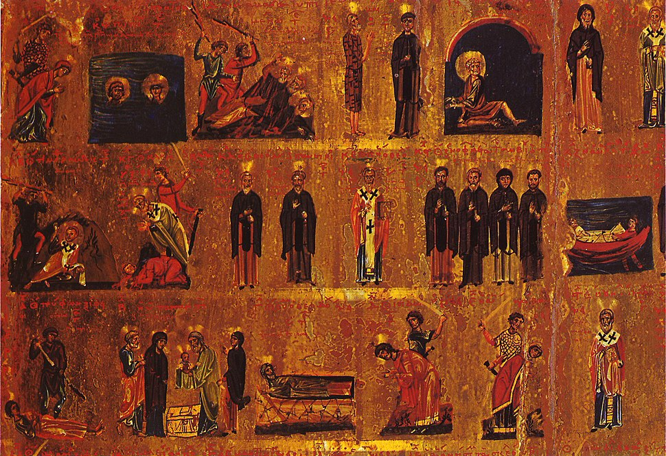 Calendar Icon Sinai 11th century