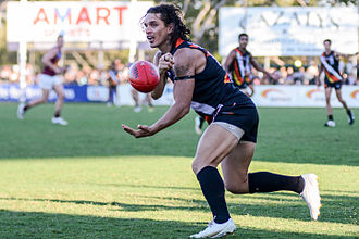 Northern Territory Football Club - Former captain and six-time club champion, Cameron Ilett, during July 2015.