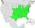 Campsis radicans range map.jpg